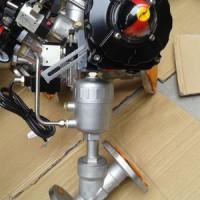 不锈钢角座阀 法兰式 三联件防爆型 加装定位器