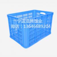 供应全新料加厚490圆孔塑料筐 塑料周转筐 塑料箩筐