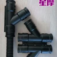 杭州机床PG13.5塑料波纹管接头开口 双胞胎波纹管开口接头
