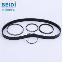 橡胶聚氨酯同步带 多规格黑色单面齿开口同步带 圆弧传动齿轮带