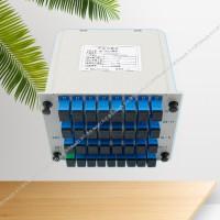 1分32光分路器厂家 东亿插片式盒式光分器一分三十二分路器