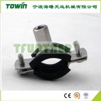 彩锌固定式连胶条卡箍/W1带宽15mm直径18mm