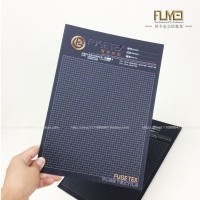 特殊工艺电雕设计纺织样卡 黑卡纸卡定制 布艺样册订做