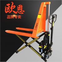 宁波半电动高升程搬运车 剪叉式电动高起升搬运车工具台车