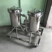 不锈钢双联过滤器配增压泵 3吨 5吨双联配饮料泵过滤器