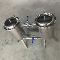 不锈钢双联过滤器 果汁过滤器 糖浆药液过滤器 蜂蜜过滤器