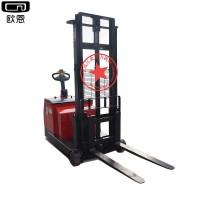 无叉腿电动堆高车配重式全电动推高叉车 自动升降铲车托盘搬运车