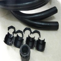 双层阻燃尼龙软管 电缆套管尼龙开口软管 黑色双层开口波纹管